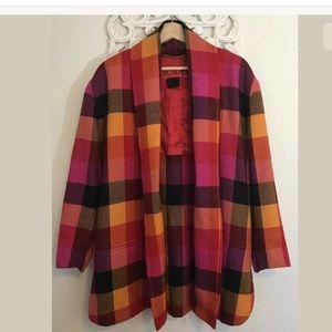 ESCADA, Multicolor Rainbow Coat Blazer Pure Wool